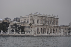 Dolmabahçe Palace from the Bosphorus